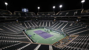 Centre court at the Indian Wells Tennis Garden