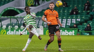 Odsonne Edouard makes it 3-0 to Celtic against Dundee United at Parkhead