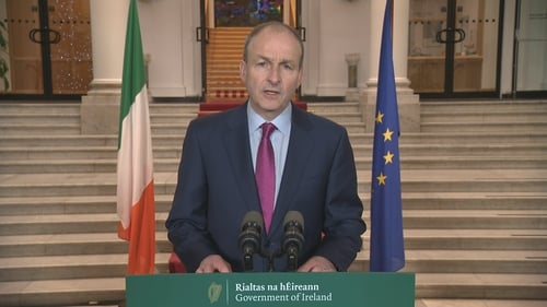 Taoiseach Micheál Martin said the new measures would remain in place for 'at least' one month