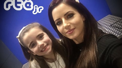 Fiona Ní Fhlaithearta and daughter Niamh - mother and daughter took part in RTEjr podcasts