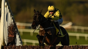 Al Boum Photo and Paul Townend jump the last on their way to completing the hat-trick