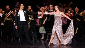 Julie Lea Goodwin (R) plays the role of Hanna during dress rehearsals for 'The Merry Widow'