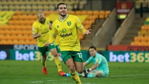 Emi Buendia celebrates his goal