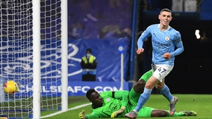 Phil Foden fired in City's second goal