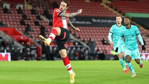 Danny Ings watches his delightful strike to open the scoring