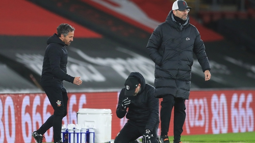 Ralph Hasenhuttl dropped to his knees at the final whistle
