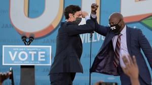 Jon Ossoff and Raphael Warnock are seeking to win the two seats in Georgia