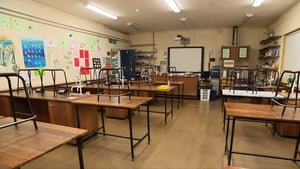 A classroom at St Kevin's Community School in Clondalkin, Dublin