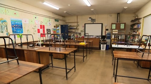 A classroom at St Kevin's Community School in Clondalkin, Dublin