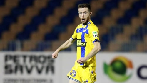 Jack Byrne made his debut for Apoel Nicosia following his Shamrock Rovers departure
