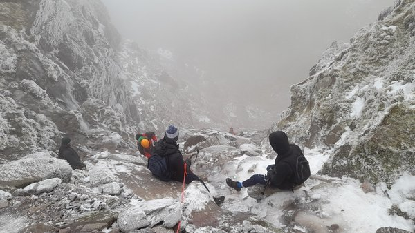 Nine people got into difficulty on Carrauntoohil yesterday