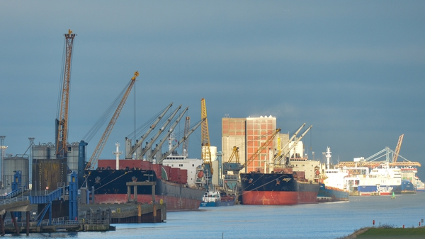 Belfast port is one of the main points of entry for goods into the north