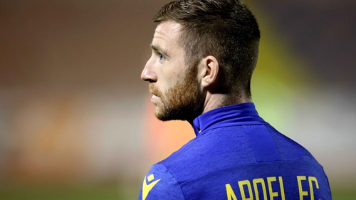 Jack Byrne pictured before his debut last night