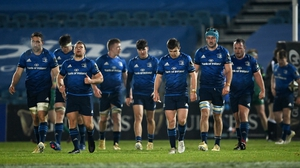 Leinster players react late in the second half against Connacht