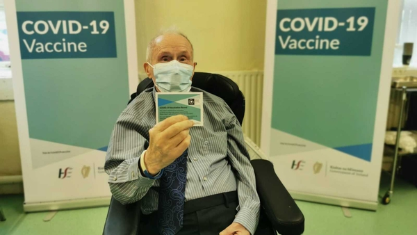 John Cremin received the vaccination under a roll-out programme organized by HSE Cork Kerry Community Healthcare