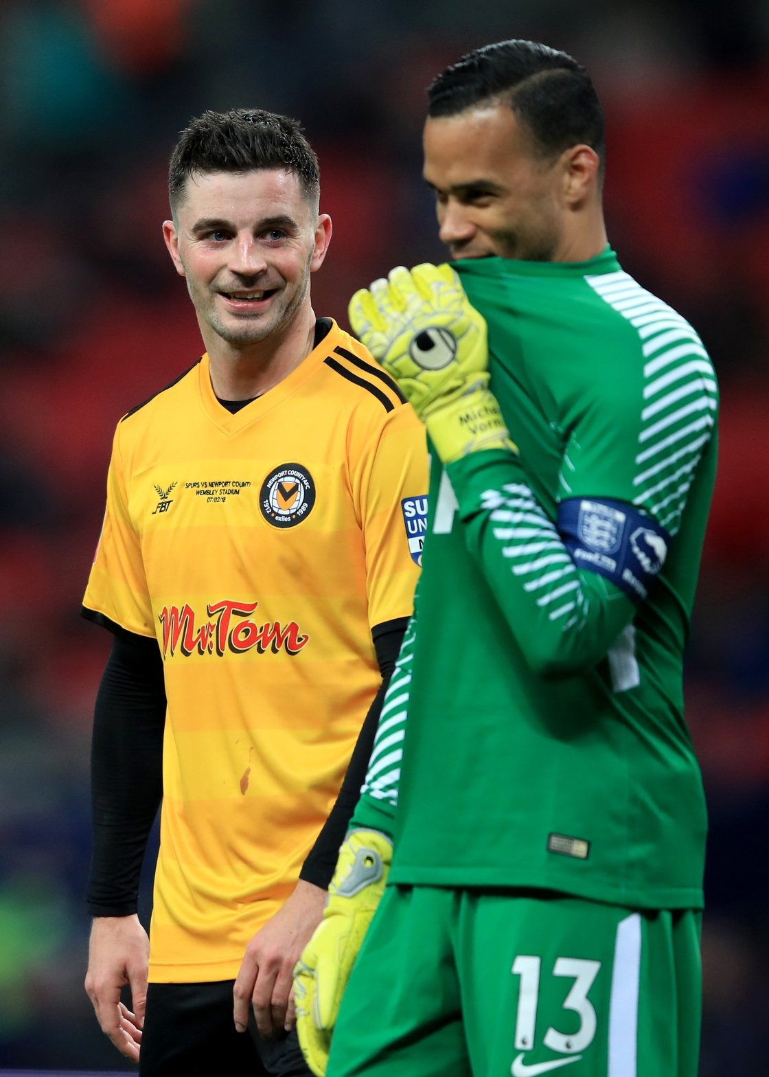 Image - Tottenham goalkeeper Michel Vorm with Padraig Amond in 2018's fourth round replay