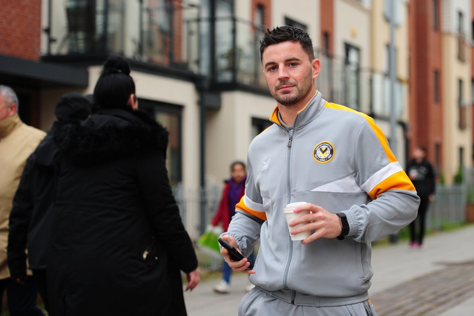 Image - Amond arriving for the fifth round match against Manchester City in 2019