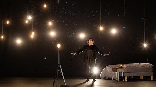 Soprano Orla Boylan in Michael Gallen's At a Loss, part of Irish National Opera's '20 Shots of Opera' series. Photo: Ste Murray.