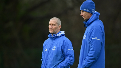 Leo Cullen and Stuart Lancaster at training ahead of the Ulster game