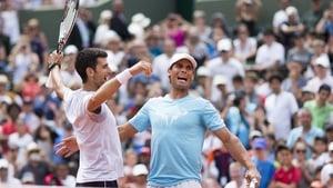 Novak Djokovic (L) and Rafael Nadal