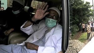 Abu Bakar Bashir left prison near the capital Jakarta
