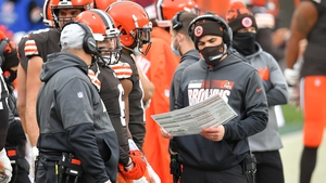 The Browns will have to cope without Kevin Stefanski on play-calling duties on Sunday