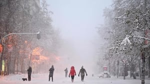 Madrid has been blasted by a heavy snow storm