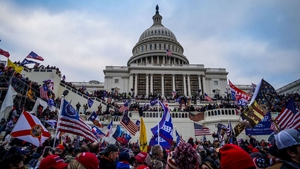 Trump supporters converged on the US Capitol building following a rally