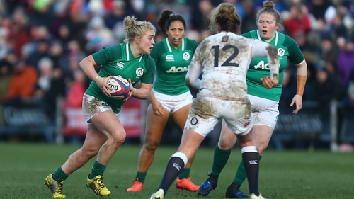 Cliodhna Moloney in action against England during the Six Nations last February