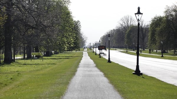 A traffic-free Phoenix Park, Dublin during the first Covid-19 restrictions last April (pic:RollingNews.ie)