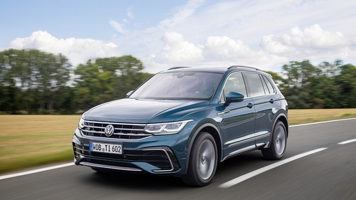 The R-Line version of the new Tiguan.