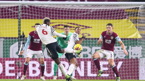 Paul Pogba's second-half volley proved the difference between the two sides at Turf Moor