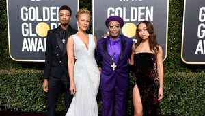 Jackson Lee, Tonya Lewis Lee, Spike Lee, and Satchel Lee attend the 76th Annual Golden Globe Awards.