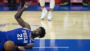 Joel Embiid in action against Miami