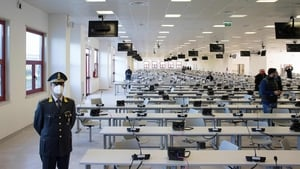 The trial is being held in a converted call centre in the Calabrian city of Lamezia Terme