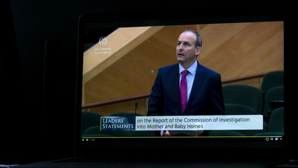 An Taoiseach Micheál Martin giving a State Apology in the Dáil after the findings laid out in the report of the Commission of Investigation into Mother and Baby Homes