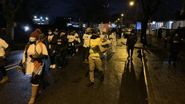 Over 100 people congregated outside Blanchardstown Garda Station which marks the culmination of 14 days of such gatherings