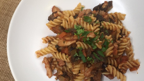 Eunice Power's pasta with porcini chicken sauce
