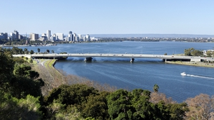 The man was swimming in Swan River when the attack occurred
