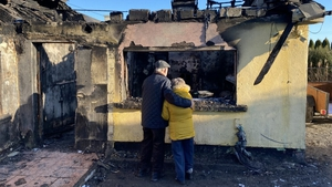 Pat and Attracta Murray's house was badly damaged after a fire broke out in the hot press