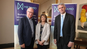 Joe O'Toole, Chair of the Metamo Credit Union Group; Anne King, Board Member of Metamo and Denis McCarthy, Fexco CEO