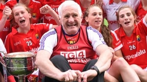 Eamonn Ryan with his Cork team after the 2015 All-Ireland final in 2015