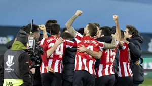 Athletic Bilbao celebrate their victory