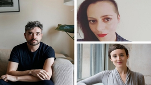 Introductions: poets (clockwise, from left) Séan Hewitt, Annemarie Ní Churreáin and Jessica Traynor