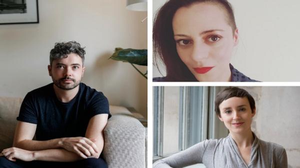 Introductions: poets (clockwise, from left) Séan Hewitt, Annemarie Ní Churreáin and Jessica Traynor