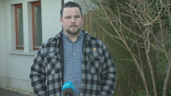 John Connors pictured speaking to RTÉ today, said he believes the new legislation will make a 'big change'