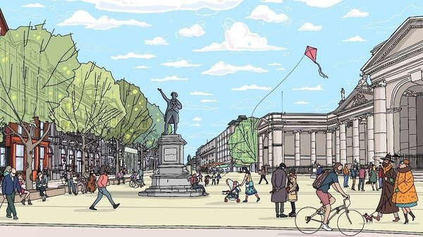 Dublin City Council was asking for views on a ban on east and west through traffic on College Green and Dame Street as far as the junction with South Great Georges Street