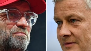 It's the fourth Premier League meeting with Klopp and Solksjaer on the touchline