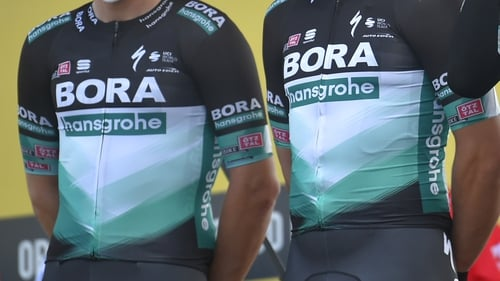 'Some of our riders were involved in an accident with a car,' a statement said