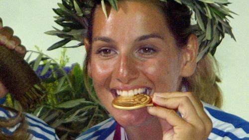 Sofia Bekatorou won gold at the 2004 Olympics in Athens